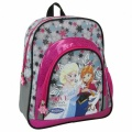 Dětský batoh FROZEN-šedo-růžový s vločkami