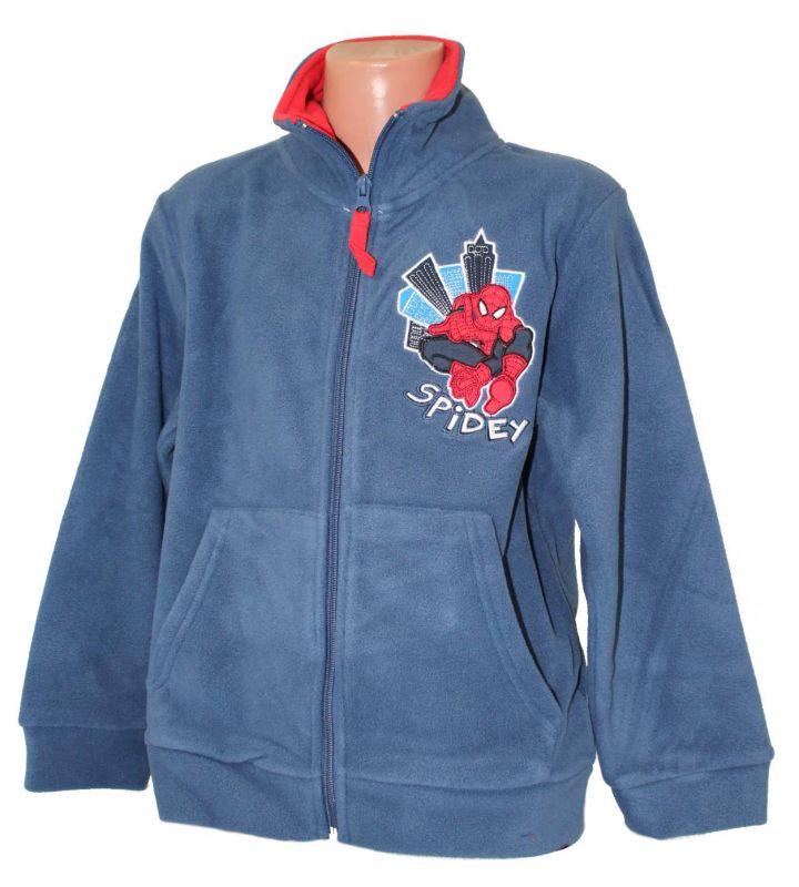 Fleesová mikina - SPIDERMAN-modrá Marvel