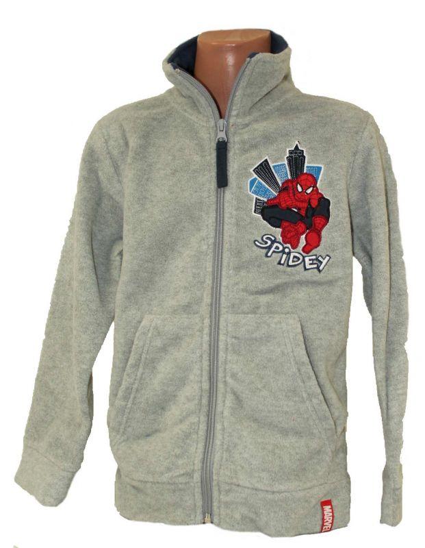 Fleesová mikina - SPIDERMAN-šedá Marvel