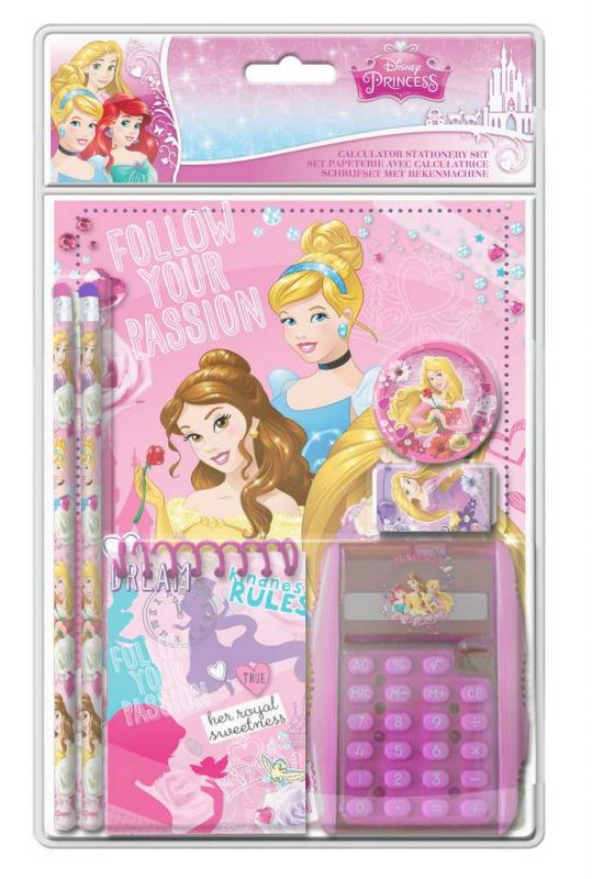 Kreativní sada s kalkulačkou Princess dětská sada Disney