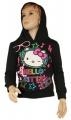 Mikina s kapucí HELLO KITTY - černá
