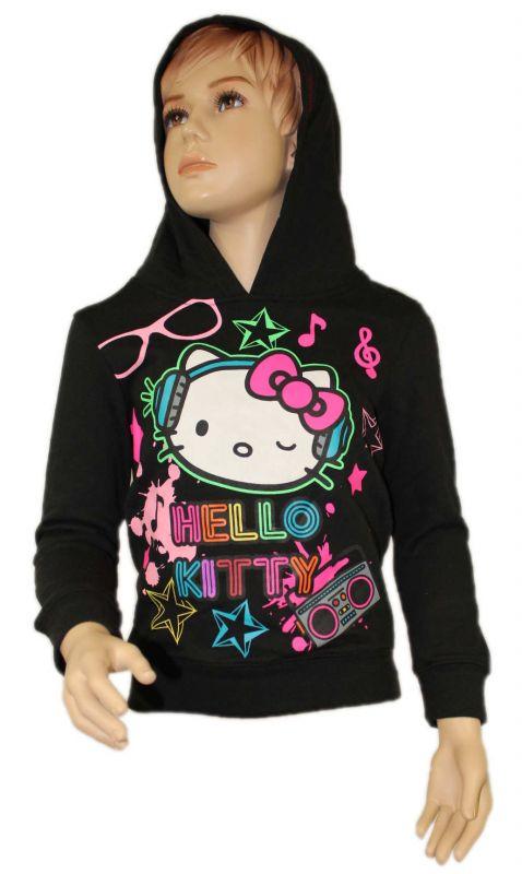 Mikina s kapucí HELLO KITTY - černá Sanrio