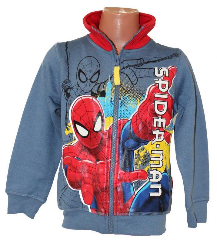 Mikina se stojáčkem SPIDERMAN -modro-červená Marvel
