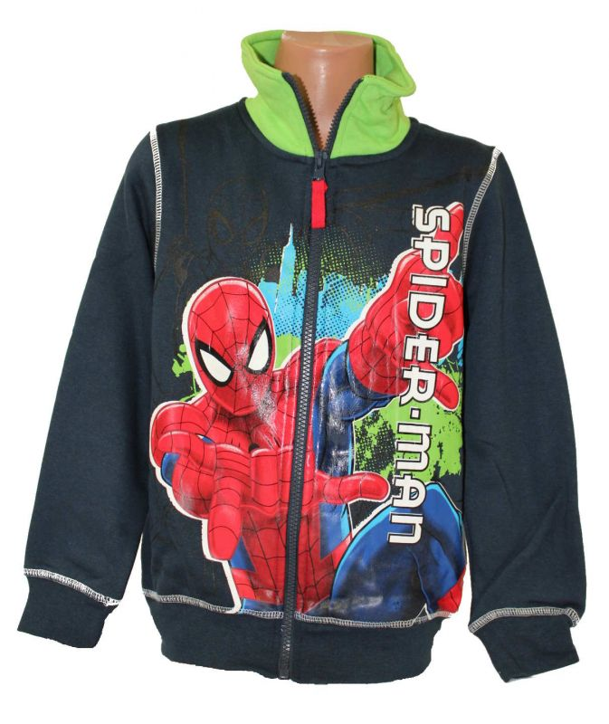 Mikina se stojáčkem SPIDERMAN -modro-zelená Marvel