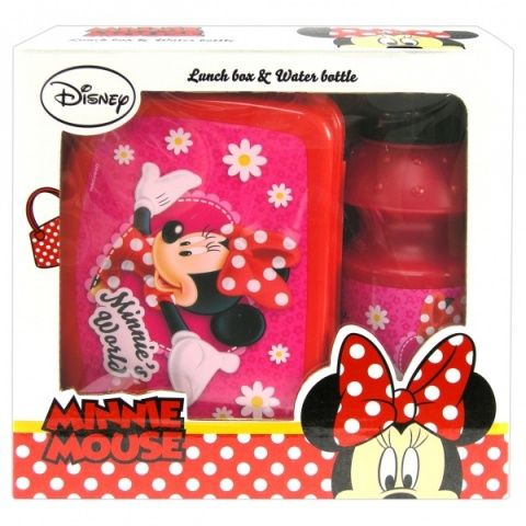 Sada v krabičce - svač.box + láhev MINNIE Disney