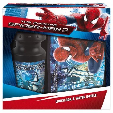 Sada v krabičce - svač.box + láhev SPIDERMAN Marvel