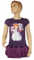 Teplákové zateplené šaty SOFIA - fialové
