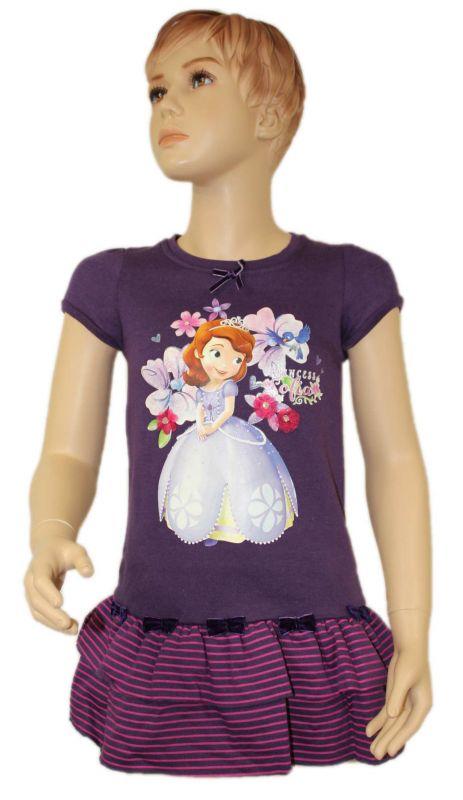 Teplákové zateplené šaty SOFIA - fialové Disney