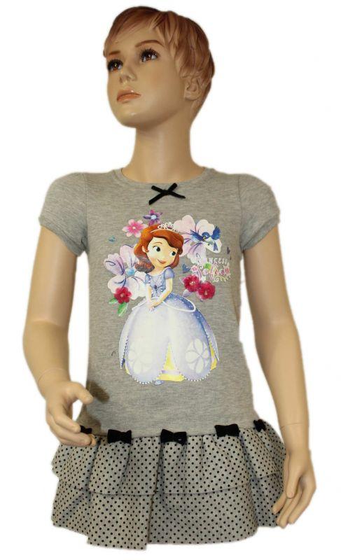 Teplákové zateplené šaty SOFIA - šedé Disney