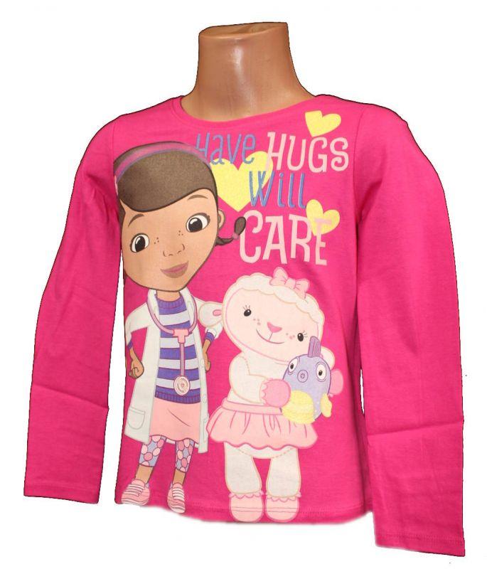 Triko dlouhý rukáv DOC McStuffins - růžové Disney