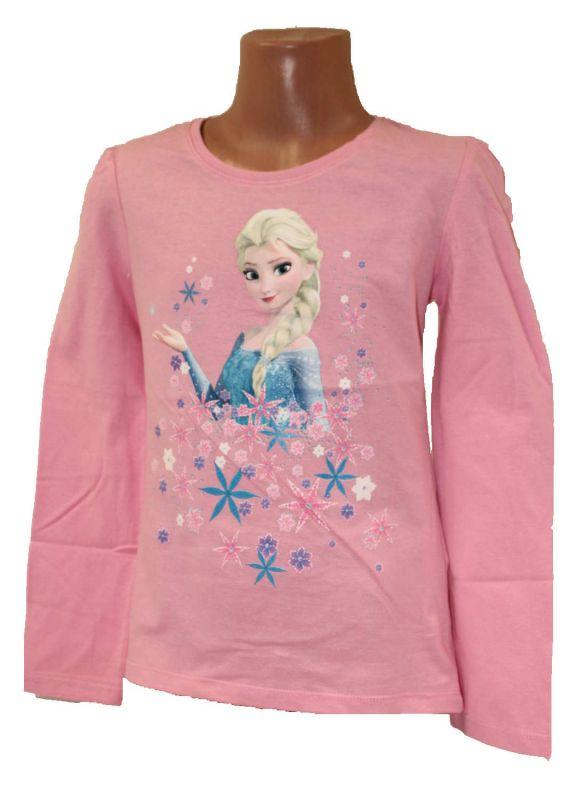 Tričko FROZEN - růžové s dlouhým rukávem Disney