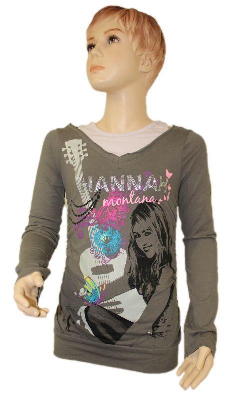 Triko dlouhý rukáv HANNAH MONTANA - šedé Disney