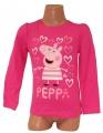 Triko dlouhý rukáv PEPPA PIG - růžové