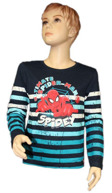 Triko dlouhý rukáv SPIDERMAN - modré-pruhy Marvel