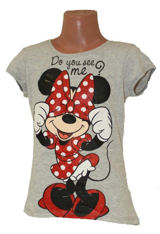 Triko krátký rukáv MINNIE- šedé Disney