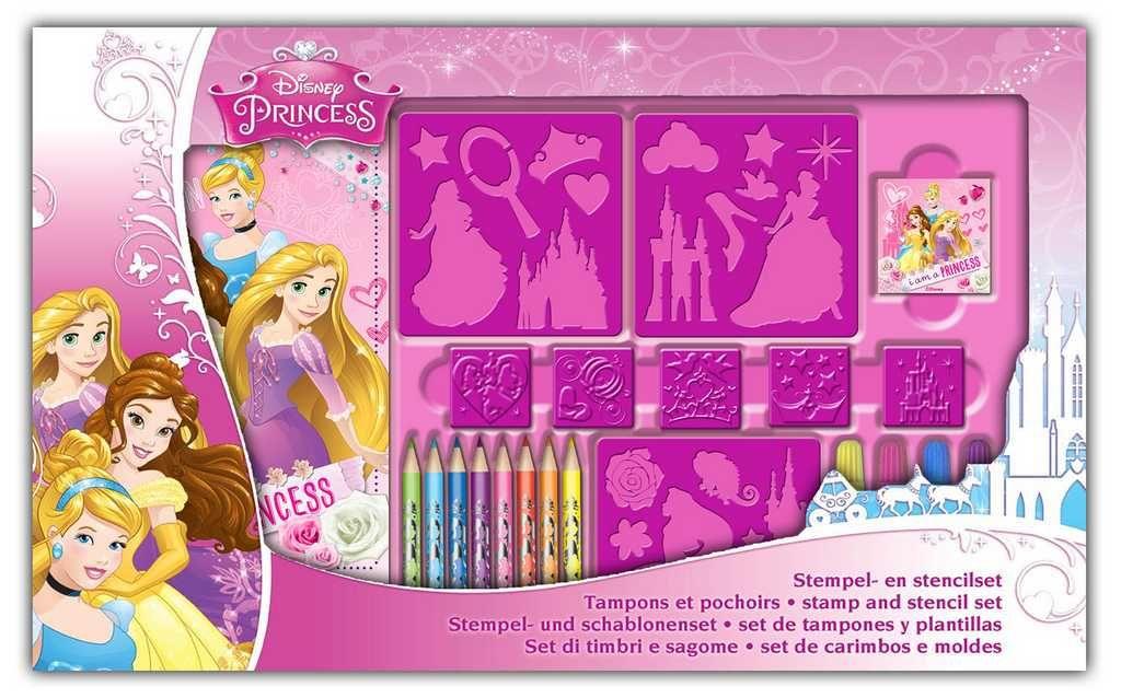 Velká kreativní sada s razítky Princess Disney