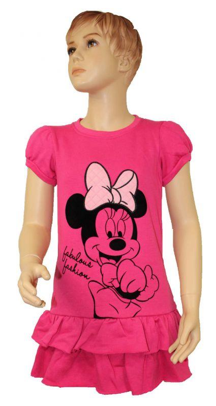 Zateplené šaty s MINNIE - růžové Disney