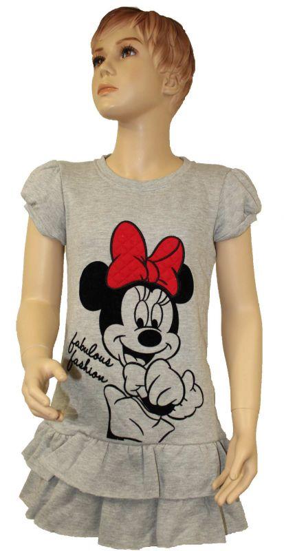 Zateplené šaty s MINNIE - šedé Disney
