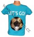 Měnící tričko kr.rukáv - chlapecké - sv.modré - míč - smajlík