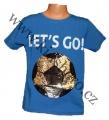 Měnící tričko kr.rukáv - chlapecké - modré - míč - smajlík