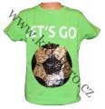 Měnící tričko kr.rukáv - chlapecké - zelené - míč - smajlík