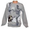 Měnící tričko, triko - dl.rukáv- míč-Cristiano Ronaldo - šedé