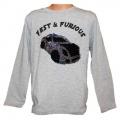 Měnící tričko, triko - dl.rukáv - chlapecké - auto - šedé