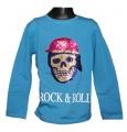 Měnící tričko, triko - dl.rukáv - chlapecké - lebka - modré