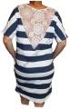 Dámské šaty, dámská tunika pruhované šaty námořnické šaty