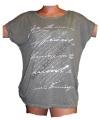 Dámské tričko/tunika s potiskem - šedé