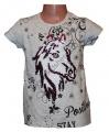 Měnící tričko, tunika kr.rukáv -  kůň - malé - šedé