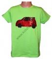 Měnící tričko kr.rukáv - chlapecké - auto - zelené