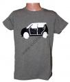 Měnící tričko kr.rukáv - chlapecké - auto - tm.šedé