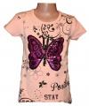 Měnící tričko, tunika kr.rukáv - motýl - velké - lososové
