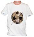 Měnící tričko kr.rukáv - chlapecké - fotbalový míč - bílé