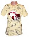 Měnící tričko kr.rukáv - chlapecké s autem - malé - žluté