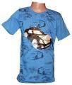 Měnící tričko kr.rukáv - chlapecké s autem - malé - modré