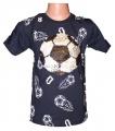 Měnící tričko kr.rukáv - chlapecké s míčem - malé - tm.modré