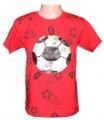 Měnící tričko kr.rukáv - chlapecké s míčem - malé - červené