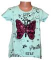 Měnící tričko, tunika kr.rukáv - motýl - velké - zelené