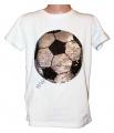 Měnící tričko kr.rukáv - chlapecké - bílé - fotbalový míč(černo-modrý)