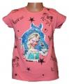 Měnící tričko, tunika kr.rukáv - kůň - Elsa  - sv.růžové
