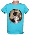 Měnící tričko kr.rukáv - chlapecké - fotbalový míč - sv.modré