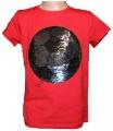 Měnící tričko kr.rukáv - chlapecké - fotbalový míč - červené