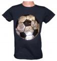 Měnící tričko kr.rukáv - chlapecké - fotbalový míč - tm.modré