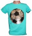 Měnící tričko kr.rukáv - chlapecké - fotbalový míč - zelené