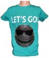 Měnící tričko kr.rukáv - chlapecké - tm.zelené - míč - smajlík