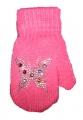 Rukavice palčáky - tm.růžové