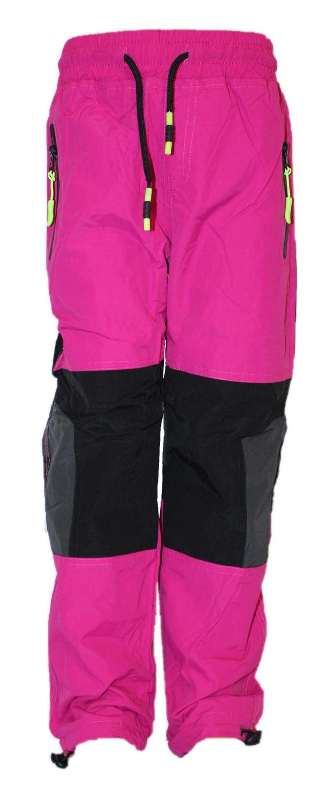 Dětské zateplené nepromokavé kalhoty dětské zateplené šusťákové kalhoty Sezon