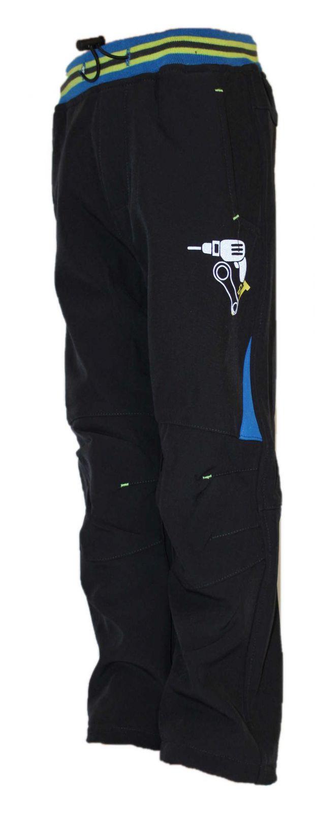 Dětské zateplené softshellové kalhoty KUGO, podzimní kalhoty